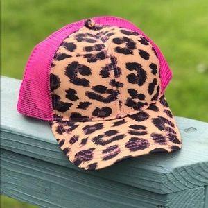Crazy Train Leopard and Hot Pink Cap